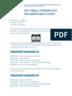 Códigos y contraseñas