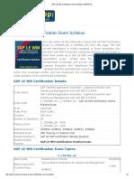 SAP LE-WM Certification Exam Syllabus _ ERPPrep