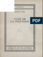 Eugen Fink_Oasis de La Felicidad