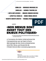 (1) «Nos Menus Sont Avant Tout Des Enjeux Politiques» - Culture _ Next