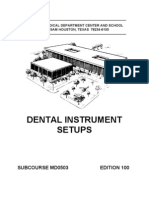 Army Dental Instrument Setups Ed