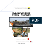 Manual Para Revisión Costos y Presupuestos