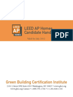 LEED AP Homes Candidate Handbook