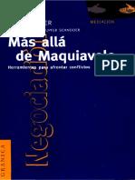 Más Allá de Maquiavelo Herramientas Para Afrontar Conflictos