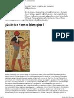 ¿Quién Fue Hermes Trismegisto_ (Leerlo Por Partes, Por Lo Extenso)