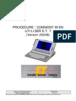 713-2 S - Procédure ET 2004B