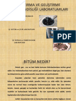 Bitüm Laboratuarı Deneyleri