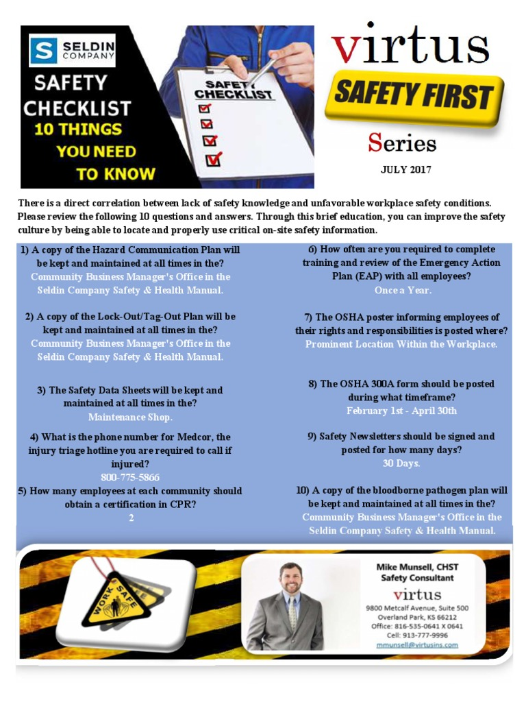 July safety newsletter 002 occupational safety and health july safety newsletter 002 occupational safety and health administration working conditions 1betcityfo Images
