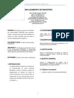 Desplazamiento de Registros - Microcontroladores