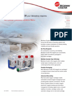 AU Clinical Chemistry Systems Menu Brochure