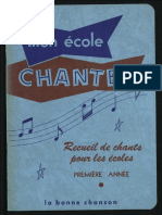 Chansons Ecole