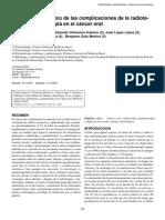 Manejo odontológico de las complicaciones de la radiote- rapia y quimioterapia en el cáncer oral