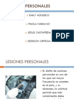 Lesiones Personales - Morfo Forense