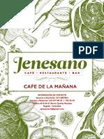 Menu Jenesano Desayunos y Café de La Mañana