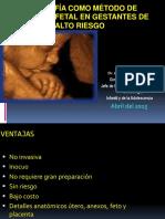 H.N.H.U Ecografía Como Método de Vigilancia Fetal en Gestantes de Alto Riesgo