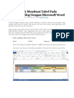 Cara Mudah Membuat Tabel Pada Postingan Blog Dengan Microsoft Word