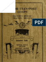 (1918) Motor Cycle's Drivers Course of the Motor Transport Corps