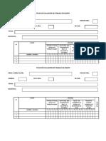 Ficha de Evaluacion Para Trabajo Equipo