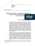 El Metodo Alceste y El Estudio de Las Representaciones Sociales