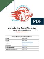 morrisville elementary school student  parent handbook 2017-2018