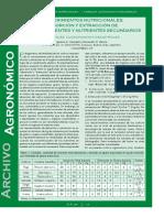 Requerimientos nutricionales. Absorción y extracción de macronutrientes y nutrientes secundarios.