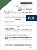 PL 1615- Pasantias en la Administración Pública