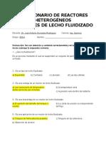 Cuestionario de Reactores Heterogéneos
