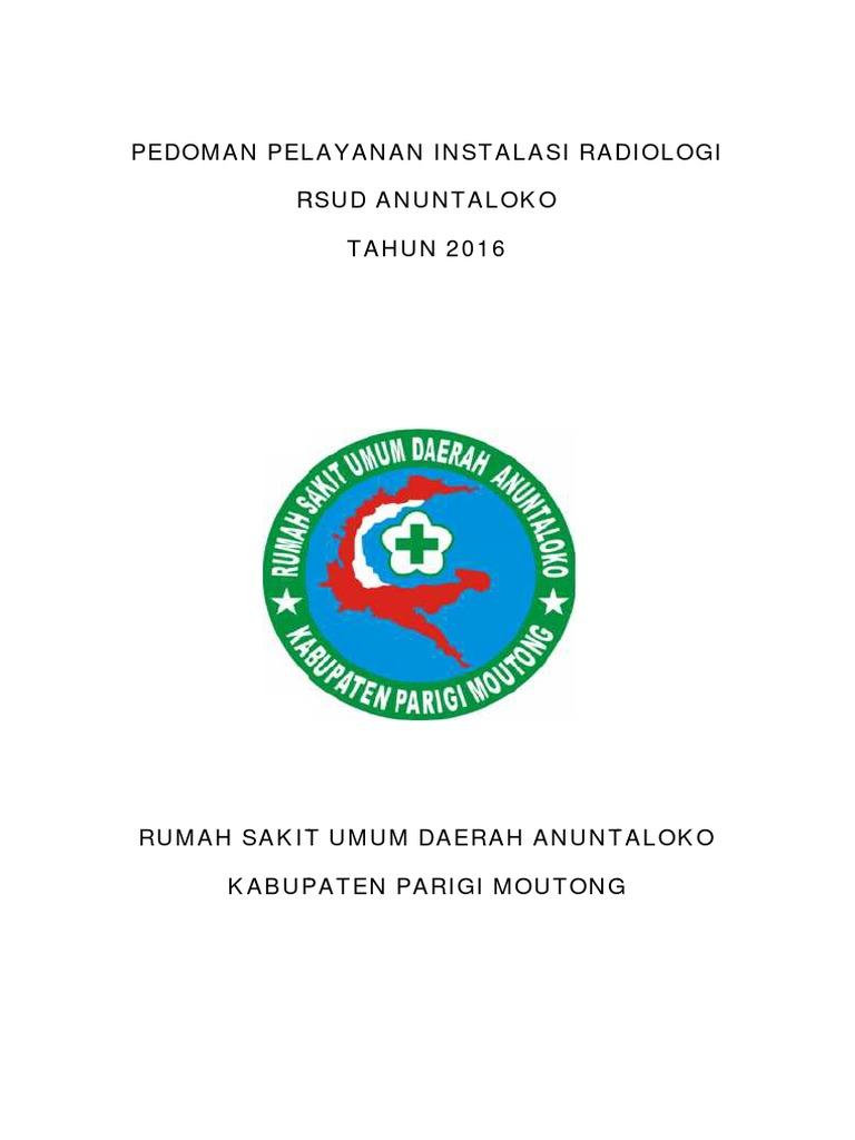 Cover Pedoman Pelayanan Instalasi Radiologi