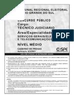 Cespe 2003 Tre Rs Tecnico Judiciario Telecomunicacoes e Eletricidade Prova