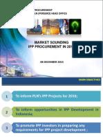 2015 12 08 Market Sounding IPP Procurement for 2016 - R2