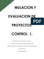 Hernan Rojas Control 1 Formulacion y Evaluacion de Proyectos