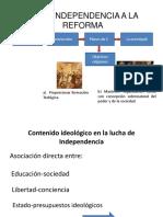De La Independencia a La Reforma