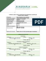 Formato Unico Para Liquidacion de Acreencias Laborales