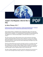 Japan Earthquake Altered Day