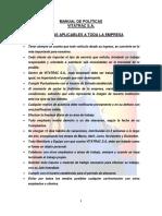 Manual de Politicas Vitatrac s.a.