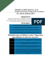 Requisitos Certificacion Supervisor