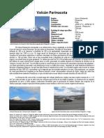 Ficha Del Volcan Parinacota, Chile.