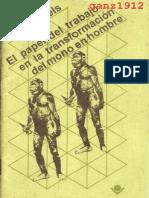 ENGELS, F. - El Papel Del Trabajo en La Transformación Del Mono en Hombre