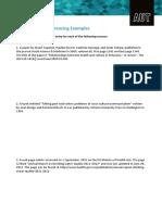 APA Referencing Practice Sheet