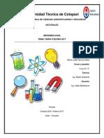 Universidad Técnica de Cotopaxi Microbiologia