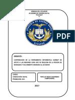 CONTRIBUCION DEL SARMAP EN OPERACIONES SAR ECUADOR