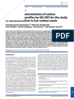 You Have Free Access to This ContentQuantitative Determination of Carbon Concentration Profiles by GD-OES for the Study of Decarburization in Low-carbon Steels