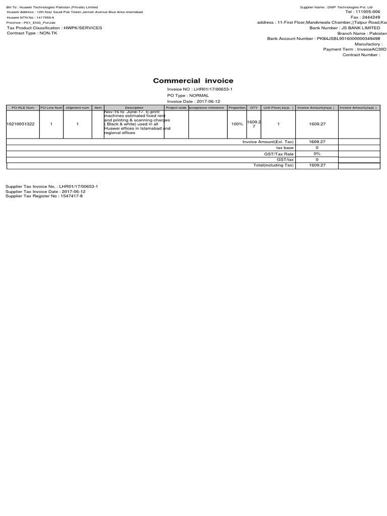 apInvoicePrintServlet2c1e6e2f | Invoice | Services (Economics)