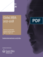 Queen Mary MBA Prospectus