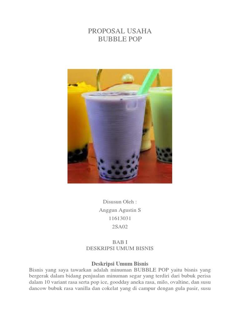 Proposal Usaha Milkshake Pigura