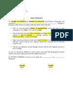 Affidavit (Delayed Registration of Marriage)