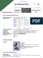 Allanite-(Ce) Mineral Data1