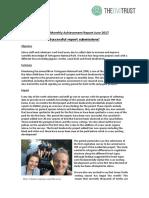 Monthly Achievement Report Jalova June 2017