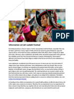 Information on Leh Ladakh Festival