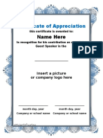 Certificate of Appreciation 02